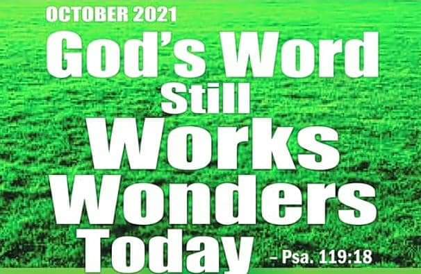 PROPHETIC FOCUS FOR OCTOBER 2021: GOD'S WORD STILL WORKS WONDERS TODAY Living Faith Church Worldwide